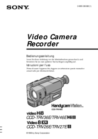 User Manual Sony CCD-TRV26E