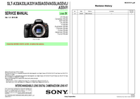 Руководство по техническому обслуживанию Sony SLT-A33L