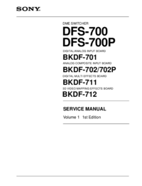 Service Manual Sony DFS-700