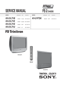 Service Manual Sony KV-21LT1B