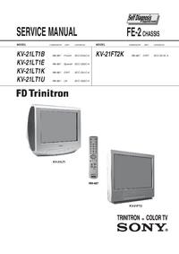 manuel de réparation Sony KV-21LT1U
