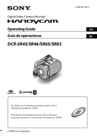 User Manual Sony SR85