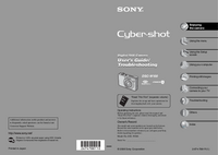 User Manual Sony Cybershot DSC-W100