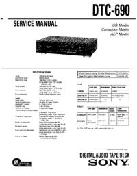 Instrukcja serwisowa Sony DTC-690