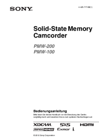 User Manual Sony PMW-200