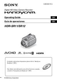 Gebruikershandleiding Sony HDR-SR11