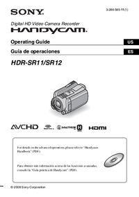 Manual del usuario Sony HDR-SR12