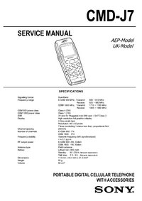 Serviceanleitung Sony CMD-J7