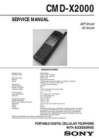 Service Manual Sony CMD-X2000