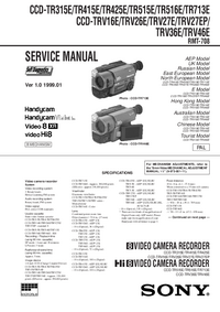 Manual de servicio Sony CCD-TRV16E