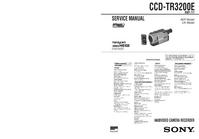 Instrukcja serwisowa Sony CCD-TR3200E