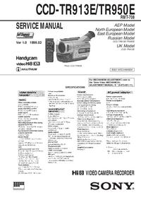 Manuale di servizio Sony CCD-TR913E