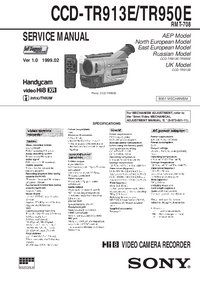 Manual de serviço Sony CCD-TR950E