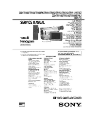 Service Manual Sony CCD-TRV44