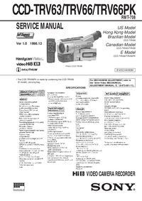 Manual de servicio Sony CCD-TRV66