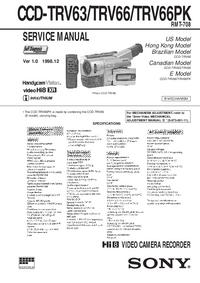 manuel de réparation Sony CCD-TRV66PK