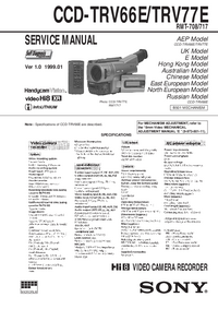 Service Manual Sony CCD-TRV66E