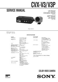 Manual de serviço Sony CVX-V3