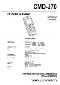 manuel de réparation SonyEricsson CMD-J70