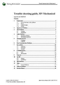 Service Manual SonyEricsson T628