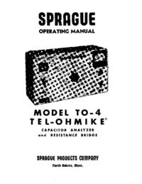 Service- und Bedienungsanleitung Sprague TO-4