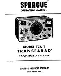 Serwis i User Manual Sprague TCA-1