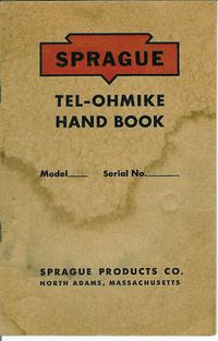 Service and User Manual Sprague Tel-Ohmike