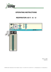 User Manual Stephan RESPIRATOR ABV - A/U