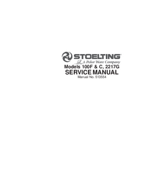 Servicio y Manual del usuario Stoelting 100F