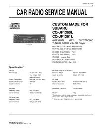 Manuale di servizio Subaru CQ-JF1360L