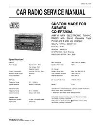 Руководство по техническому обслуживанию Subaru CQ-EF7260A