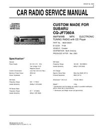 Руководство по техническому обслуживанию Subaru CQ-JF7360A