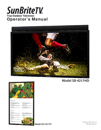 Manuel de l'utilisateur SunBrite DS-4217P