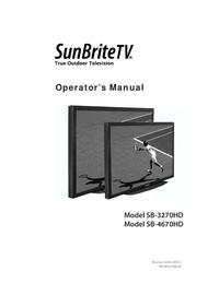 Manual del usuario SunBrite SB-4670HD