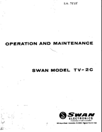 Serwis i User Manual Swan TV-2C