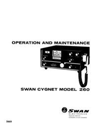 Service and User Manual Swan 260