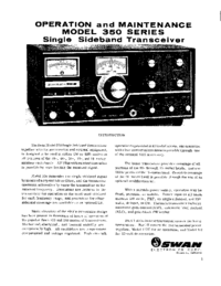 Service and User Manual Swan 350 series