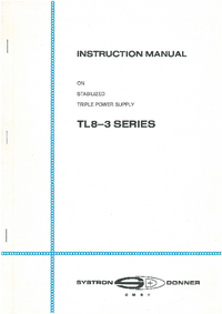 Service and User Manual SystronDonner TL8-3 Series