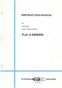 Service- und Bedienungsanleitung SystronDonner TL8-3 Series
