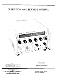Service and User Manual SystronDonner 5000A