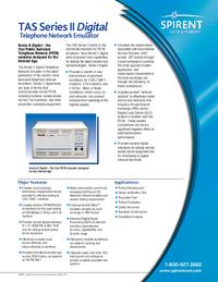 Dane techniczne TAS TAS Series II Digital