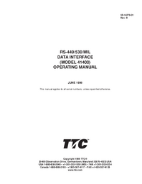 User Manual TTC 41400