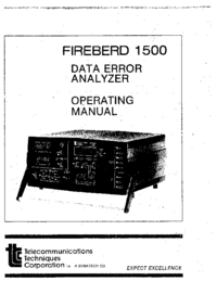 Manual del usuario TTC Firebird 1500