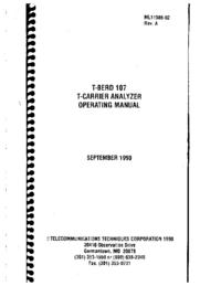 Руководство пользователя TTC T-Berd 107