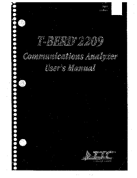 Manuale d'uso TTC T-Berd 2209