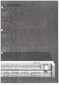 Manual de servicio Tandberg TR 3030
