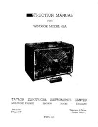 Обслуживание и Руководство пользователя Taylor Windsor Model 66A