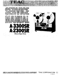 Service Manual Teac A-2300SR
