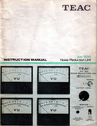 User Manual Teac AN-300