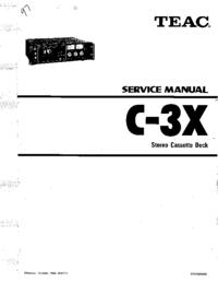 Servicehandboek Teac C-3X